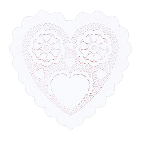 White heart-shaped doilies Valentine's Day Party Supplies
