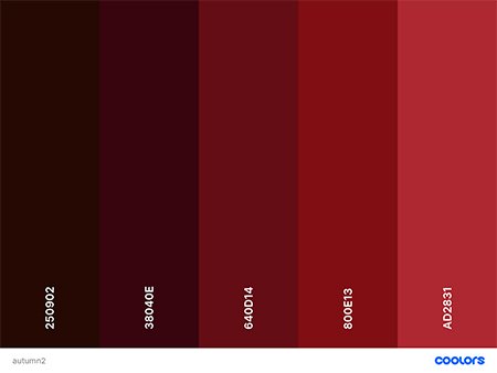 red fall color palette