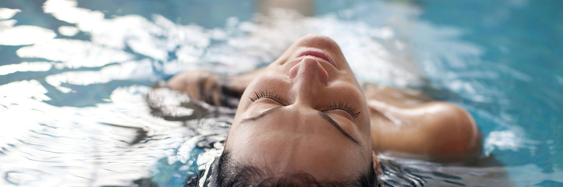 Woman's Head coming up out of water wide