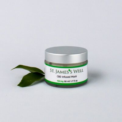CBD Infused Mask with leaf