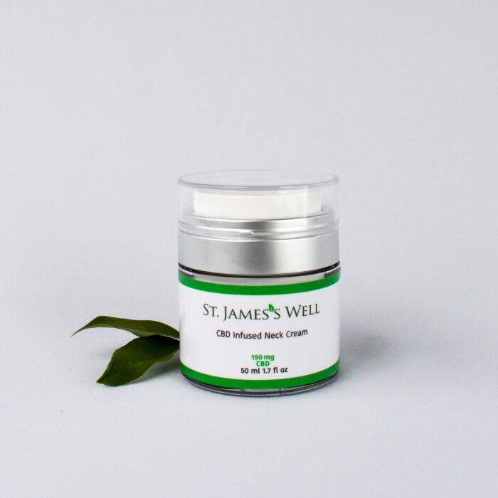 St. James's Well CBD Infused Neck Cream with Leaf