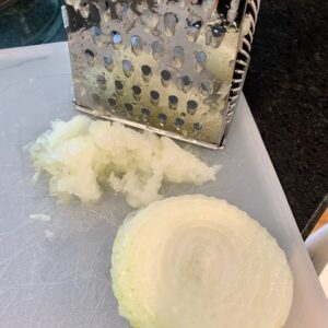 grated onion