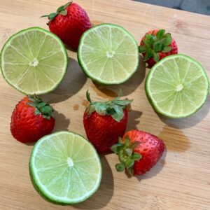 Strawberries and limes