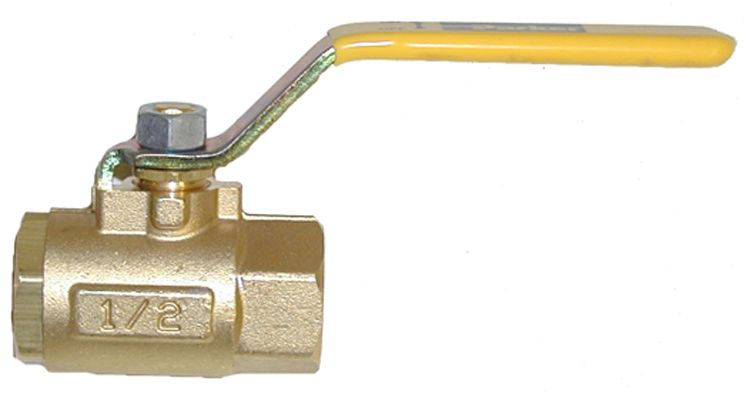 "Brass ball valve-1/2""FxF"