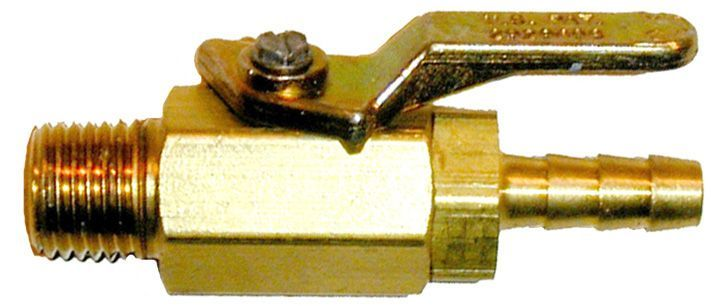 "Brass ball valve-1/4""Mx1/4"" barb"