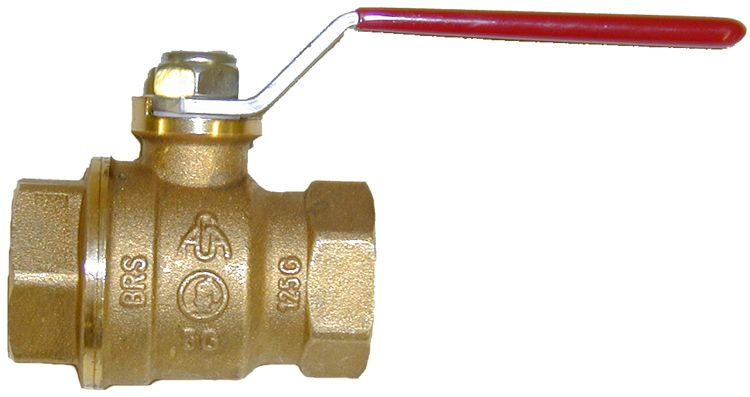 "Brass ball valve-3/4""FxF"
