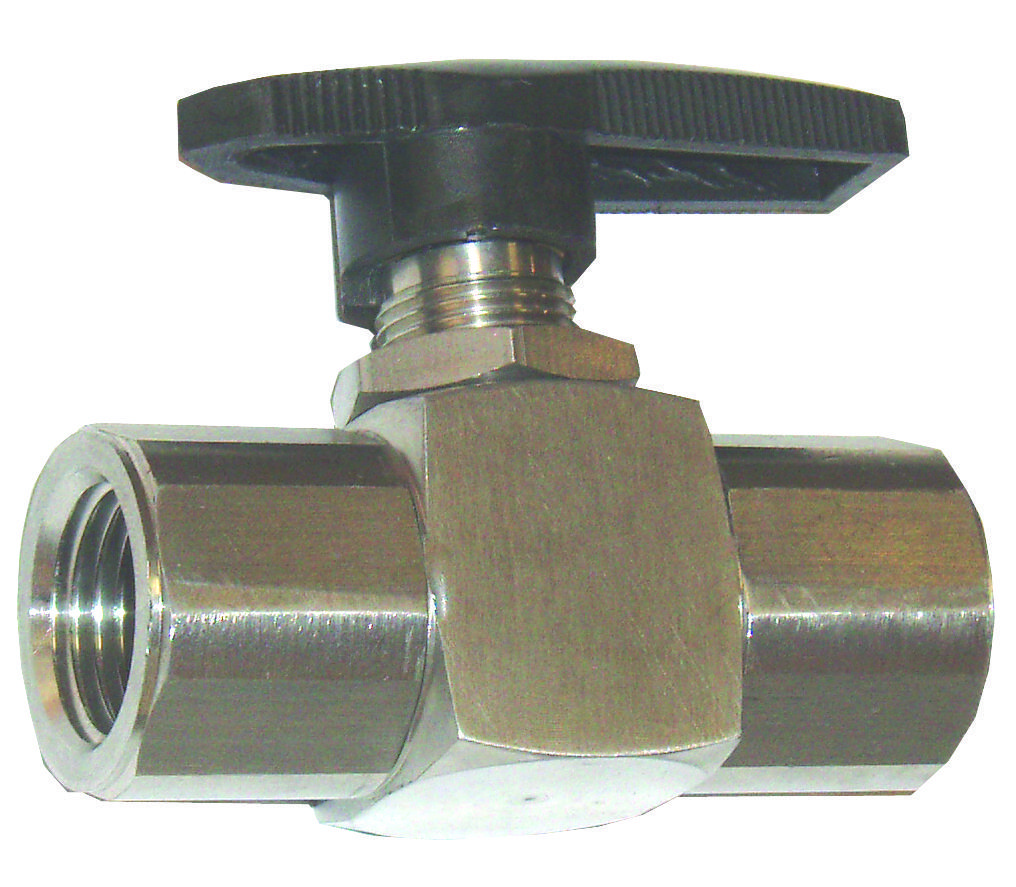 "Ball Valve-3/8""F x 3/8""F,6000PSI,304SS,300DF"