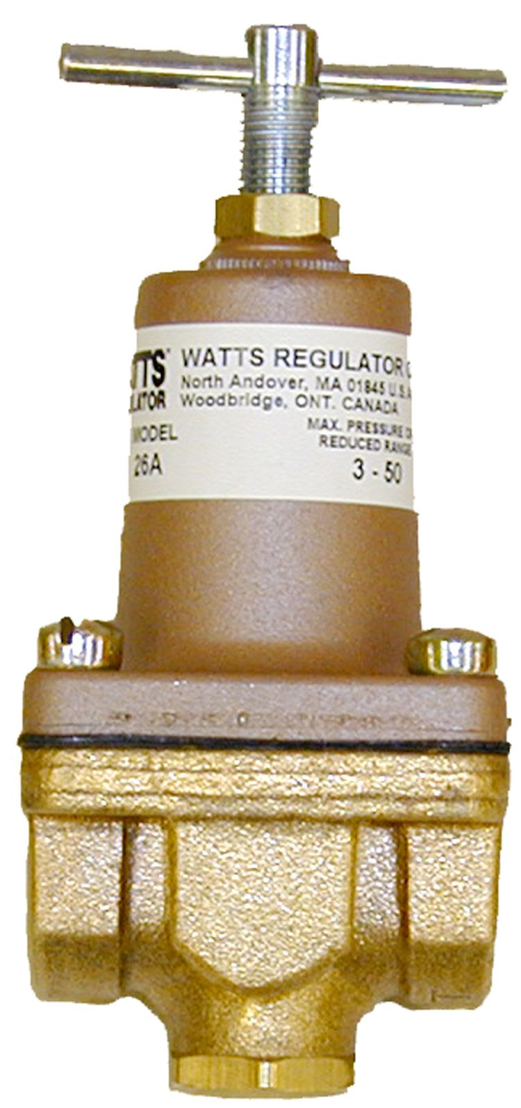 Watts pressure regulator