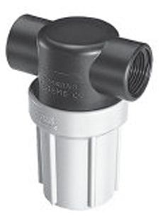 "3/4"" F x F Inline Filter - poly head & bowl - 50 mesh"