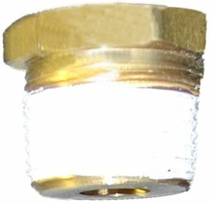 "Pipe bushing-1/2""x3/8"" brass, hex head"