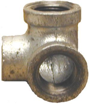 """Side outlet pipe elbow-1/2""""Fx90°, Sch 40 GS"""