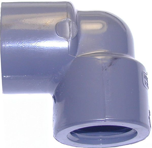 "Pipe elbow-1""Fx1""Slipx90°, Sch 80, PVC"