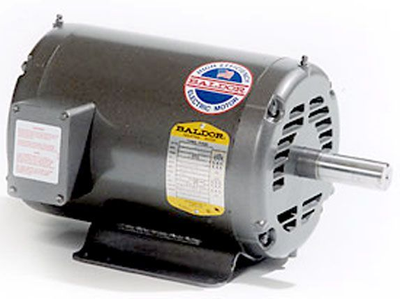 "Electric motor-7.5HP, 208/230/460V/3PH/60HZ, 1725 RPM,213T frame,1 3/8"" shaft,ODP"