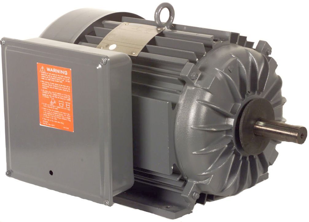 "Electric motor, 10HP, 230V/1PH/ 60HZ,1730 RPM,215T frame,1 3/8"" shaft,TEFC"