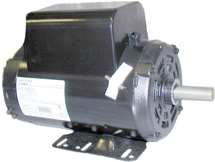 "Electric motor, 5HP, 208/230V/1PH/ 60HZ,3450 RPM,56 frame,7/8"" shaft,ODP"