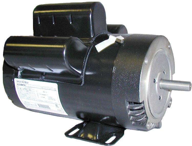 "Electric motor, 4HP, 208/230V/1PH/ 60HZ,3450 RPM,W56 frame,5/8"" shaft,ODPC"