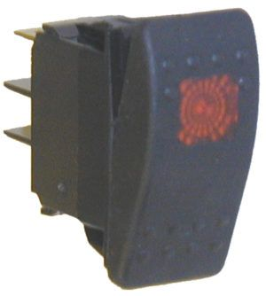 Rocker switch, V-series, 24V, 15 AMP