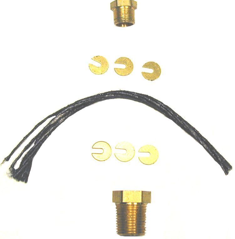 Temperature control packing nut kit