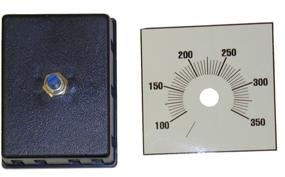 Adjustable electronic thermostat, 100-350°F