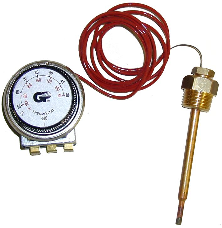 Adjustable thermostat - 86°to 320° F