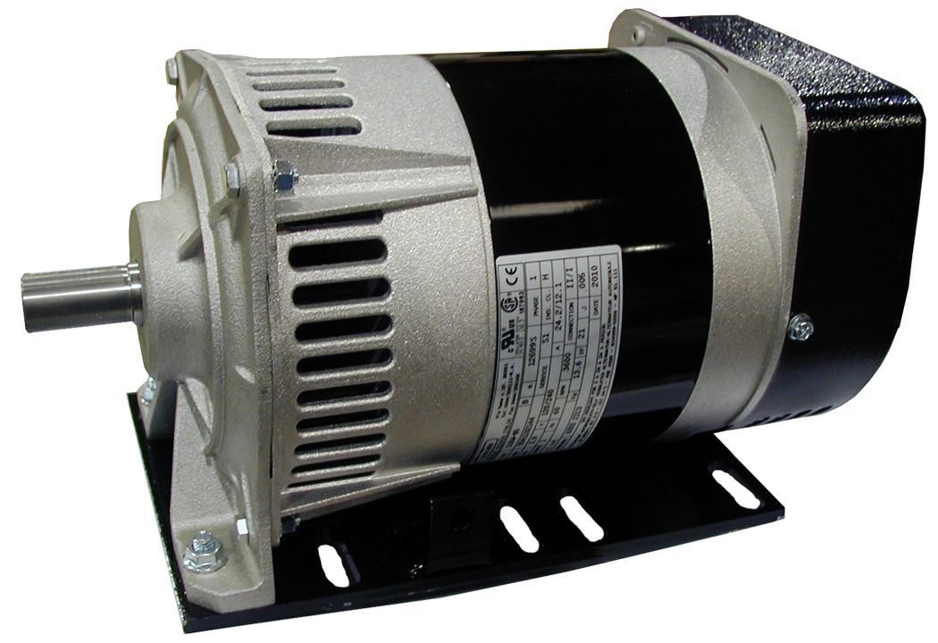 Generator with mounting plate