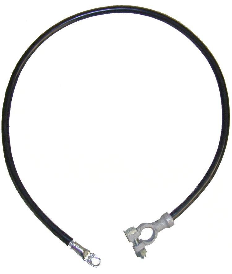 """Battery cable-56"""" clamp/eye (Black)"""