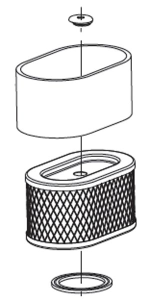 Air filter with pre-cleaner to replace #797033