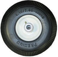"Tire and rim assembly - 10""H x 3.5""W x 4"" Dia Rim (Urethane Solid)"