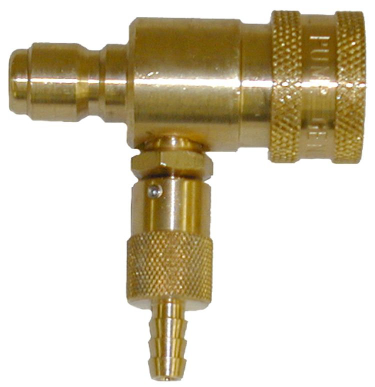 Brass quick conn. Chem. Inj.-2.3mm orifice #100577(brass plug)