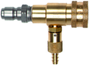 Brass quick conn. Chem. Inj.-2.3mm orifice #100655(SS plug)