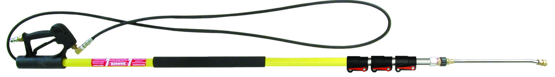 24' fiberglass telescoping wand - 4 pole compact design