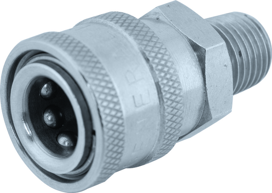 """SS quick connect socket-1/4""""Fx1/4""""MPT"""
