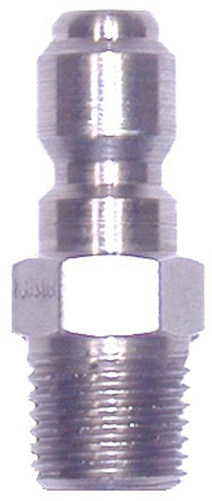 """SS quick connect plug-3/8""""Mx3/8""""MPT"""