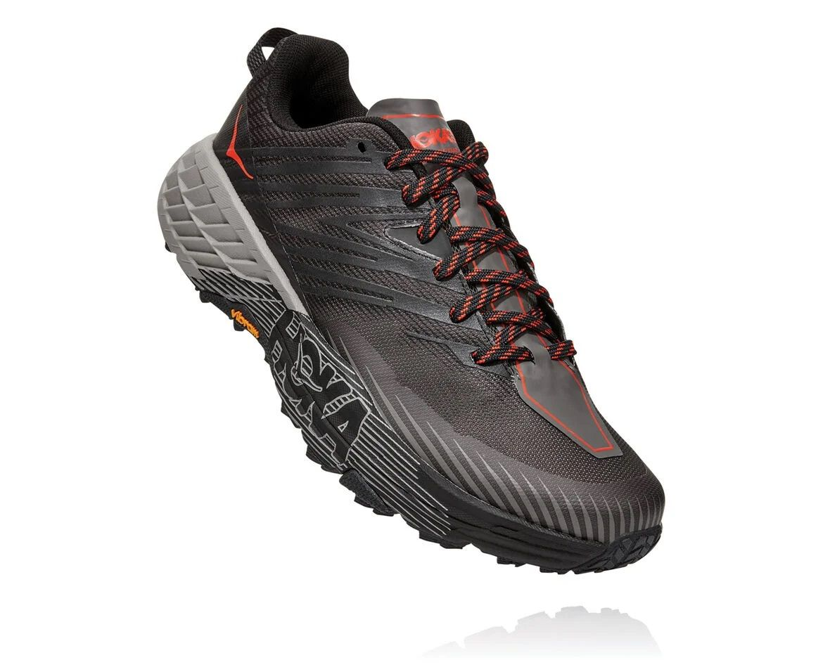 Hoka One One Mens Speedgoat 4 Dark Gull Grey Anthracite Front