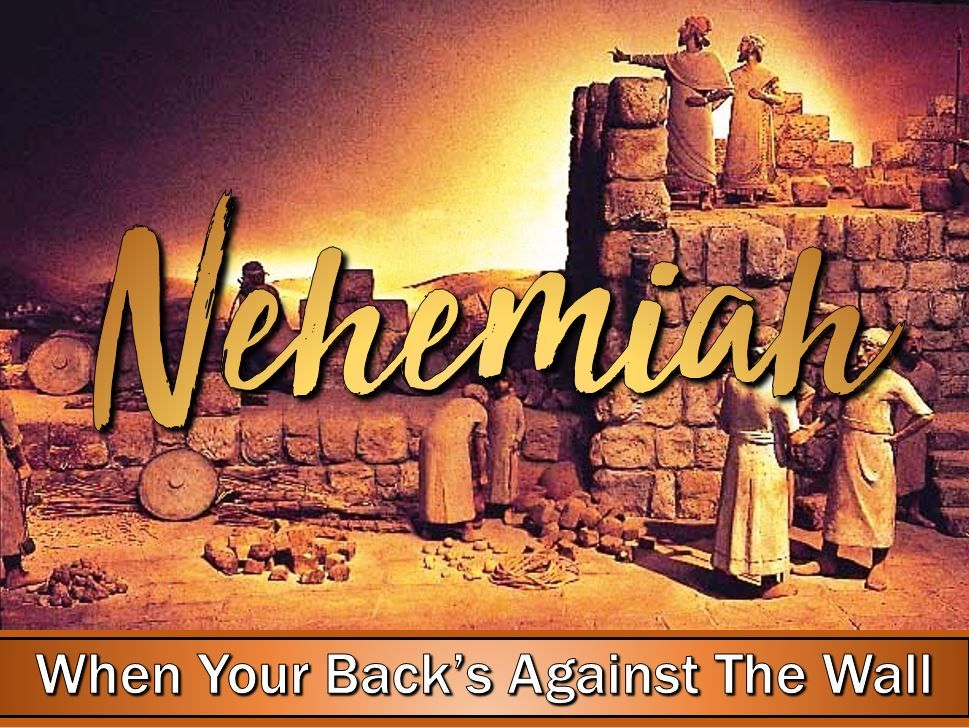 Arise and Build - When Your Back's Against The Wall