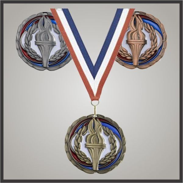 Colored Epoxy Medals