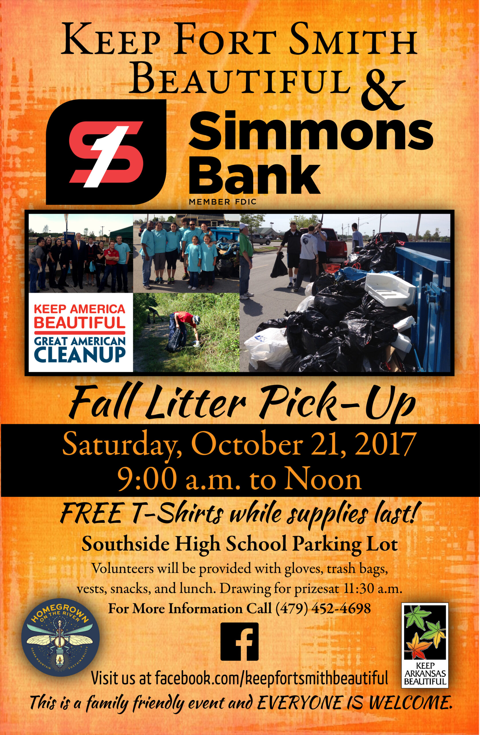 Keep Fort Smith Beautiful Litter Pick-Up 2017