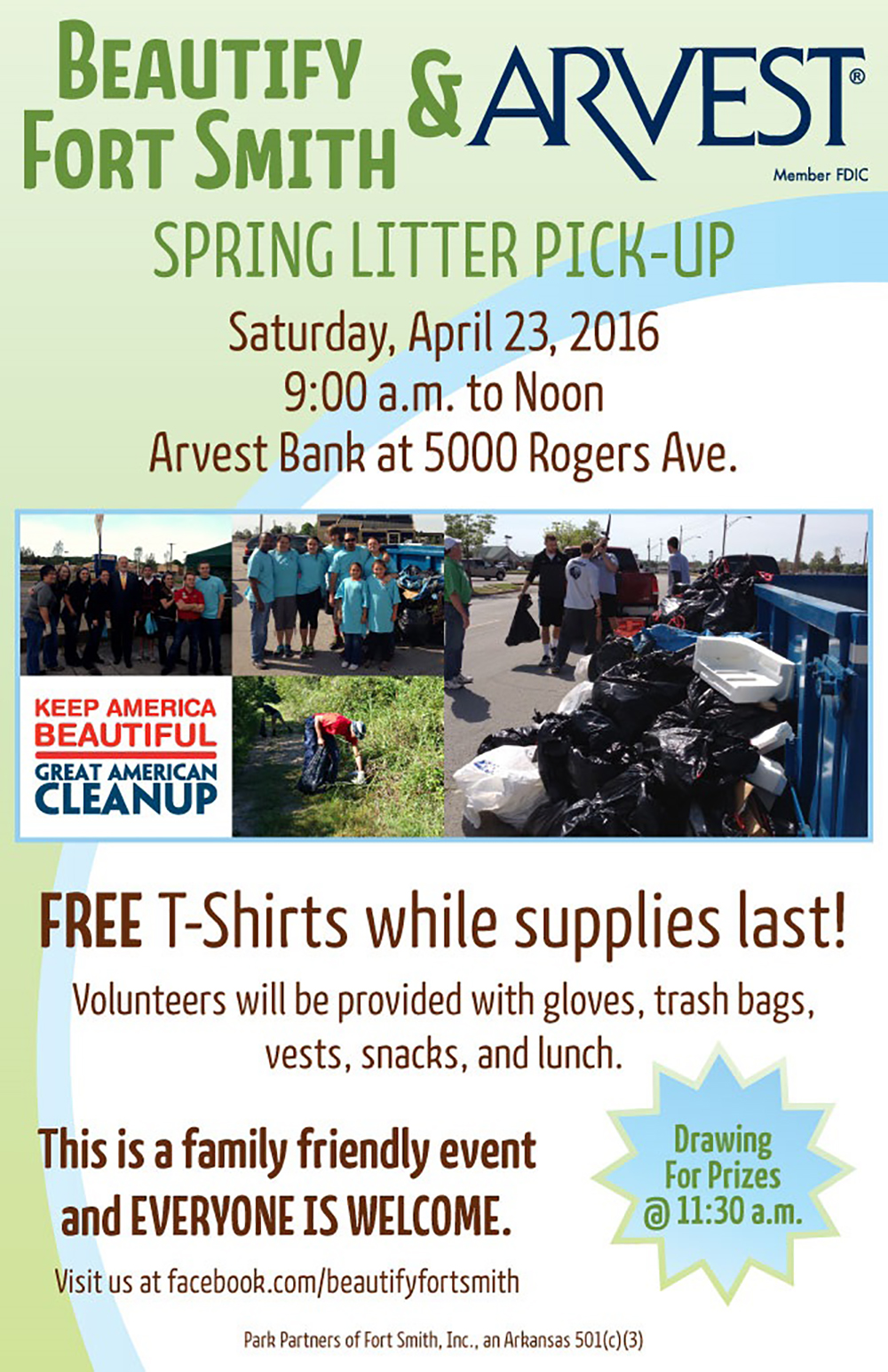 Beautify Fort Smith Spring Litter Event 2016