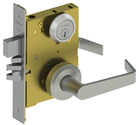 sectional mortise lock