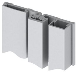 face mounted continuous hinge